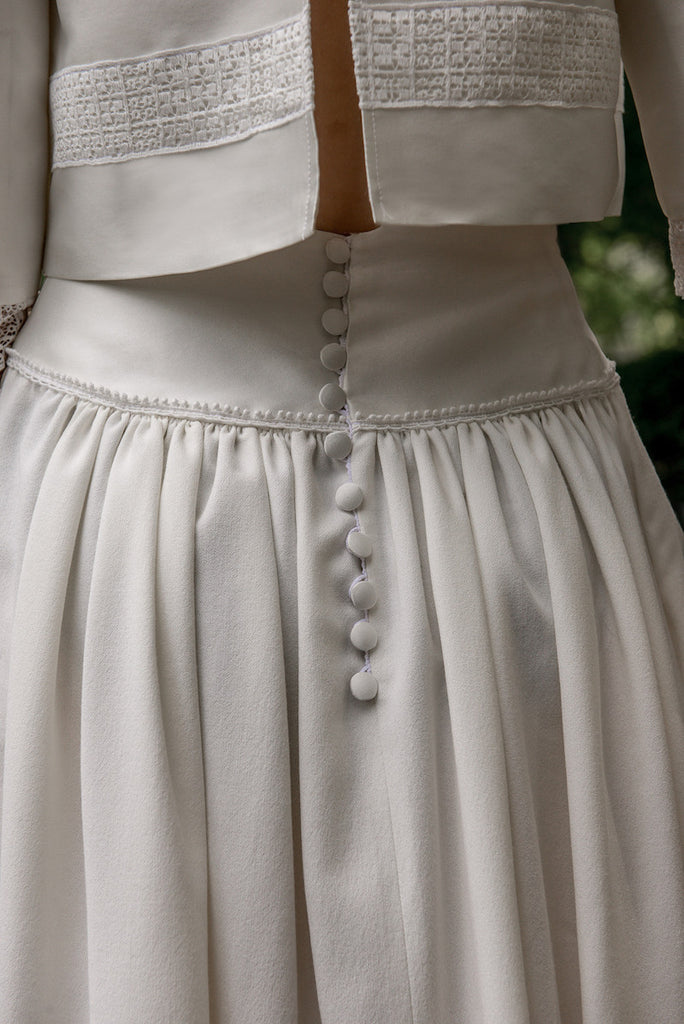 White Bridal Skirt Mutxico by Serie Blanche Paris
