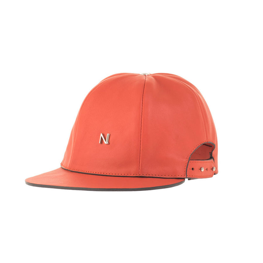 Red Leather Cap Nicolas Theil Paris - Nicolas Theil