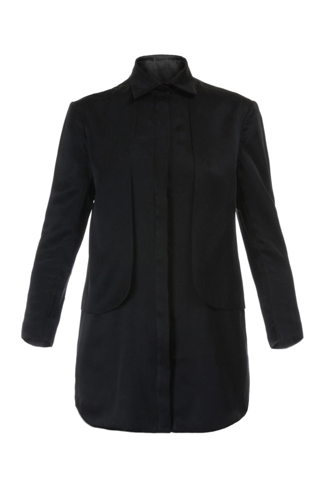 Silk twist black women shirt Constance Boutet - Constance Boutet