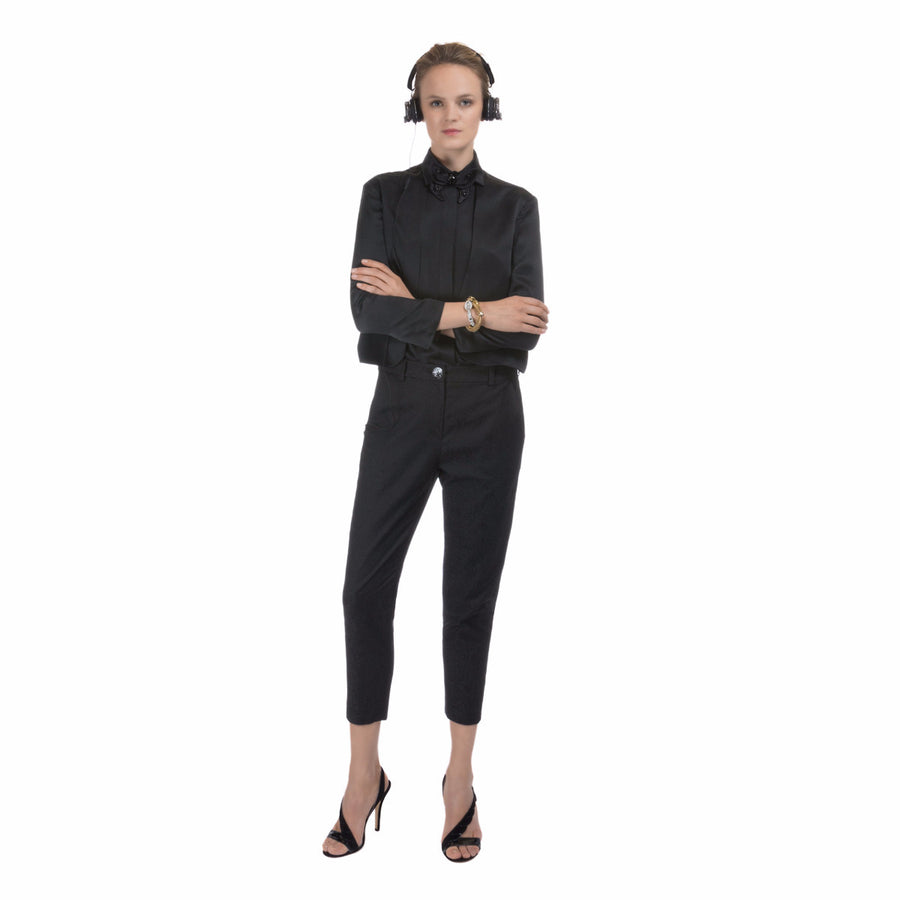 Women Black Pants New Mondrian Devastee - Devastee
