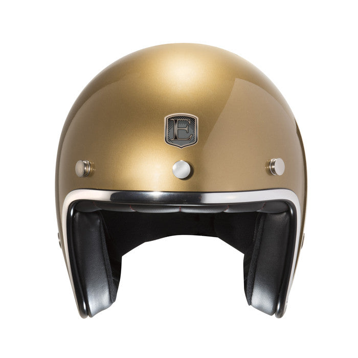 Exklusive Polycarbonate Gold Helmet Chrome trim and goggles clip - exklusiv