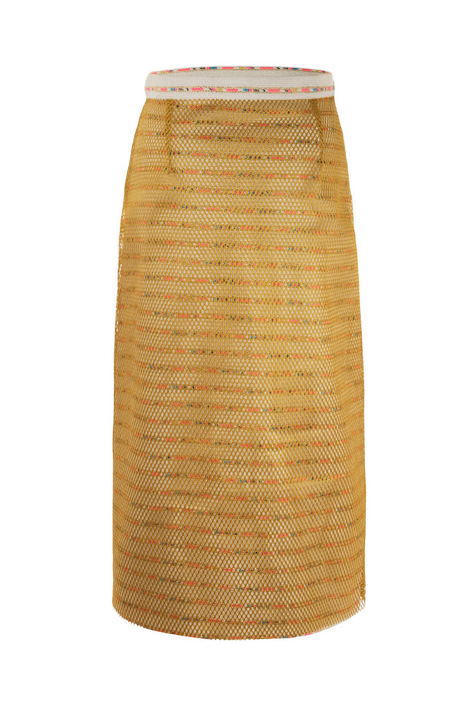 Marrakech Tweed Pencil Skirt Floriane Fosso - Floriane Fosso