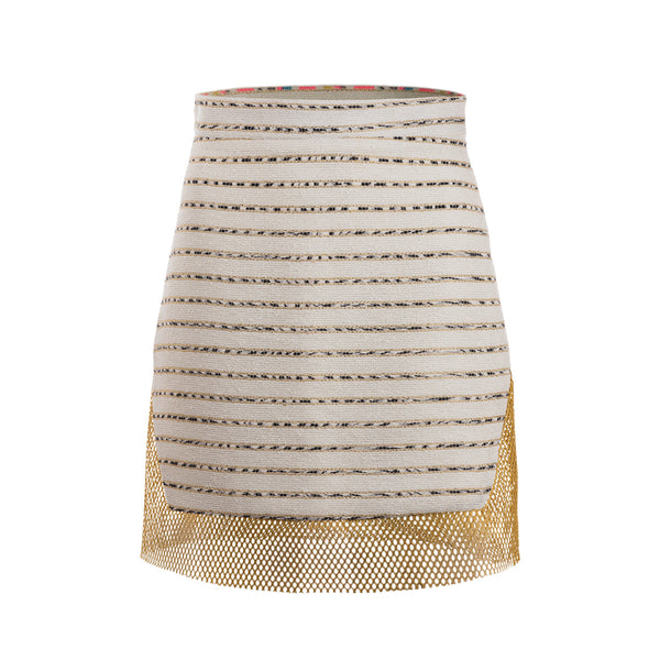 Marrakech Tweed Geo Skirt - Floriane Fosso