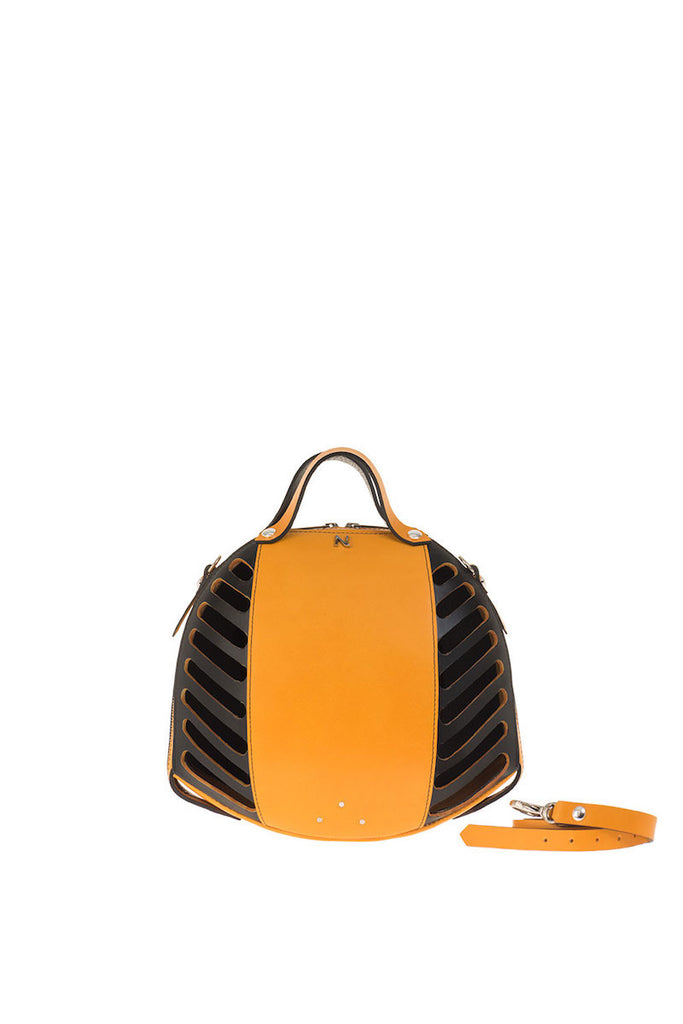 Orange Bee Leather Handbag Nicolas Theil - Nicolas Theil