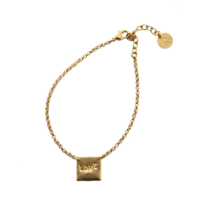 Handmade Gold bracelet Love Badineries Alice Hubert - Alice Hubert