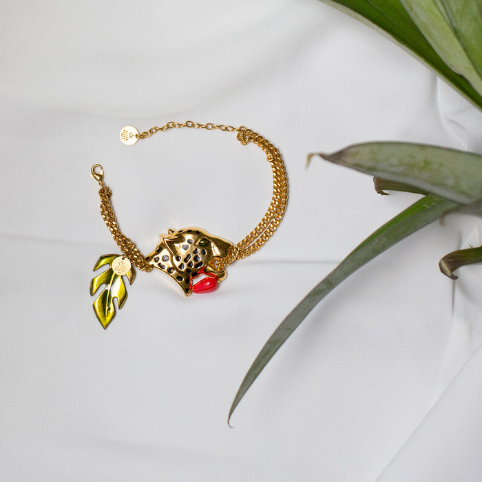 Handmade Gold Bracelet Jungle Alice Hubert - Alice Hubert