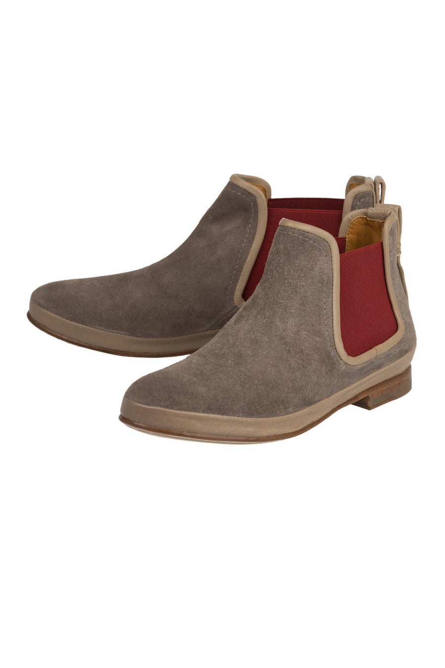 Women Grey Chelsea Low Boots Francois Jour Ferie Paris - Jour Ferie Paris