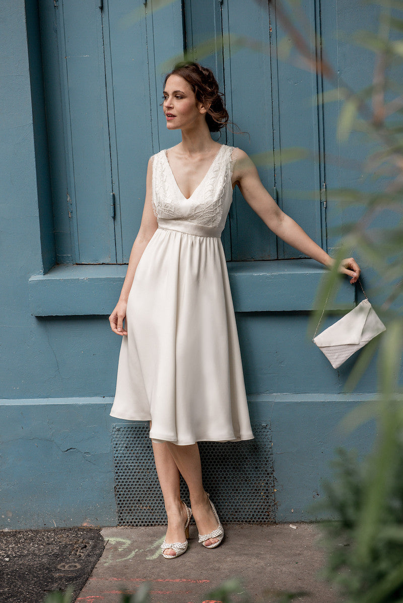 White Bridal Lindy Hop dress by Serie Blanche Paris