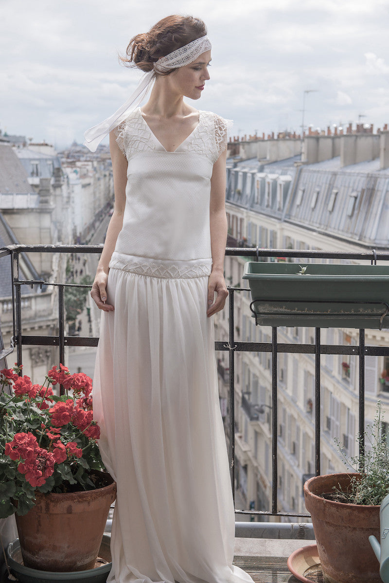 White Bridal dress Valse by Serie Blanche Paris
