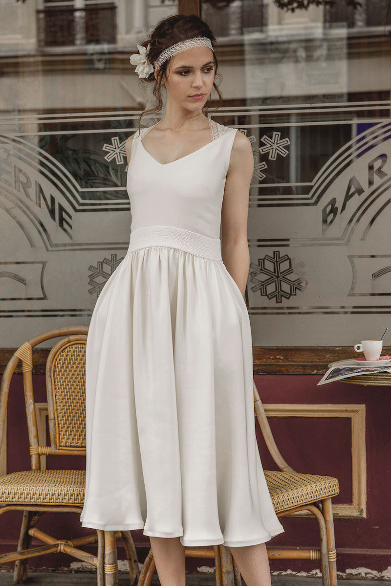White Bridal Mambo dress by Serie Blanche Paris