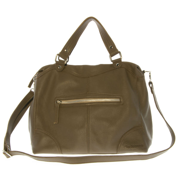 Khaki Laptop Leather Bag Mathilde Lila Jeanne