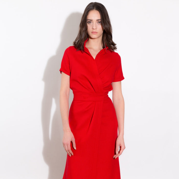 Red Longue Dress Philippe Perisse