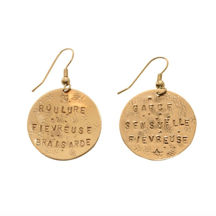 Handmade Pink Gold Earrings Injurieuses Alice Hubert - Alice Hubert