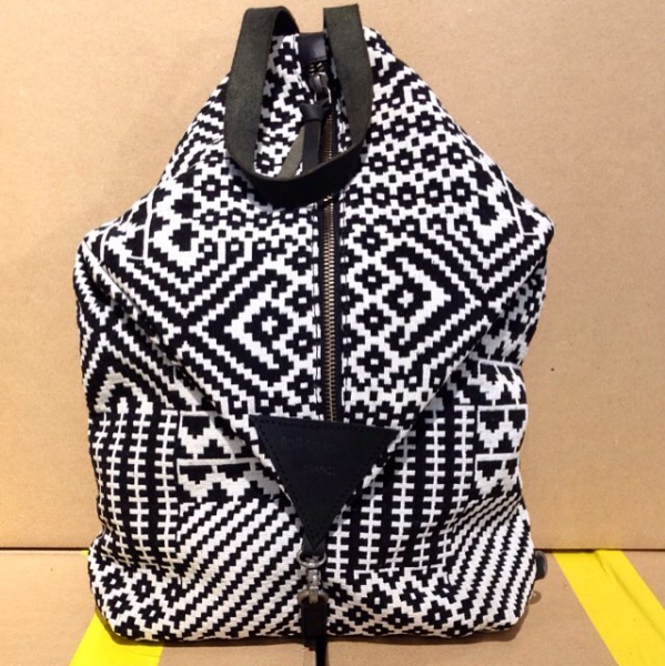 Canvas Backpack Roots Black & White  Folklo by Ka - Folklo by Ka
