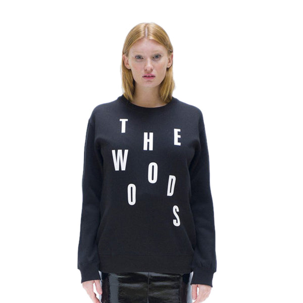 Black Sweatshirt The Woods Handmade in Paris - THE WOODS