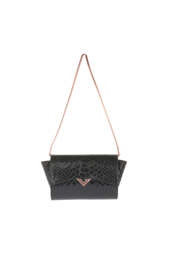 Leather handbag Scala Gun Powder Boa Versa-Versa - Versa Versa