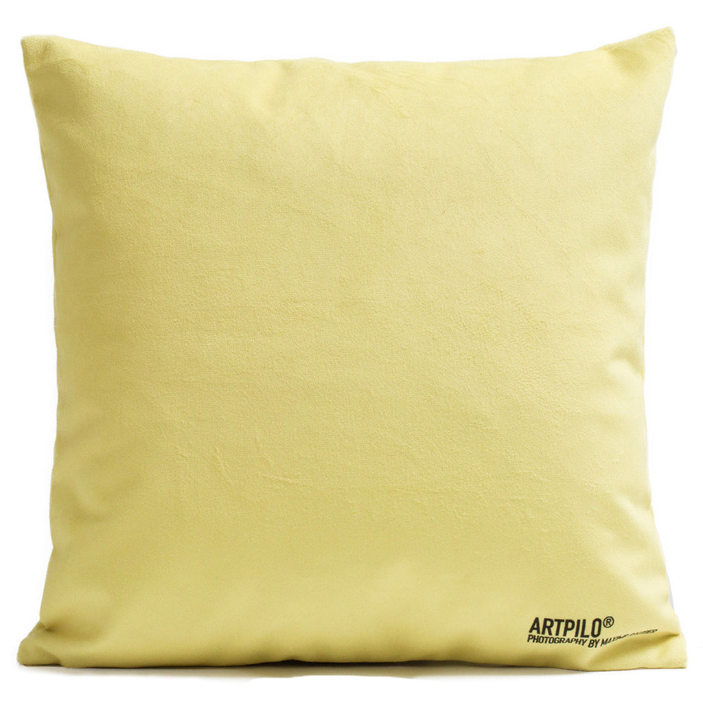 Artpilo Cushion Cover Smiling Camel - Velvet Yellow - Artpilo