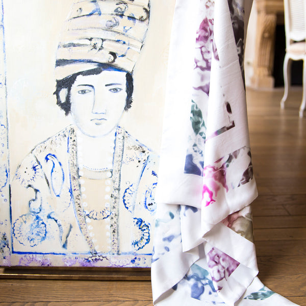 Large and Medium Printed Silk Scarf Constance Boutet