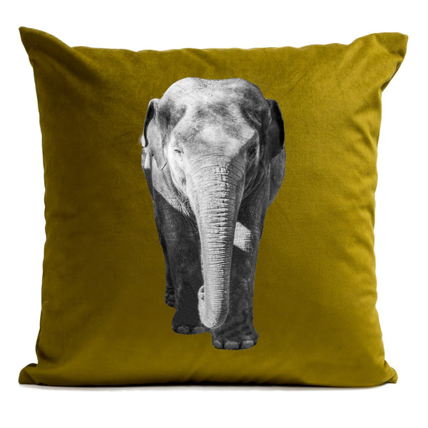 Artpilo Cushion Cover Animals Bronze Velvet - Elephant - Artpilo