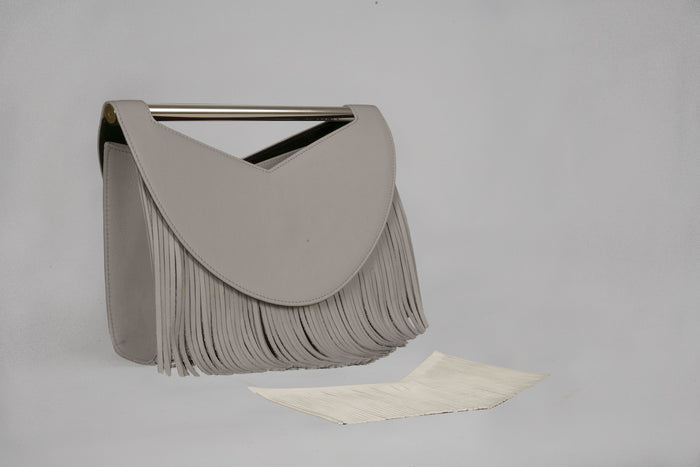 Grey Women Handbag Rio with fringes by Versa Versa