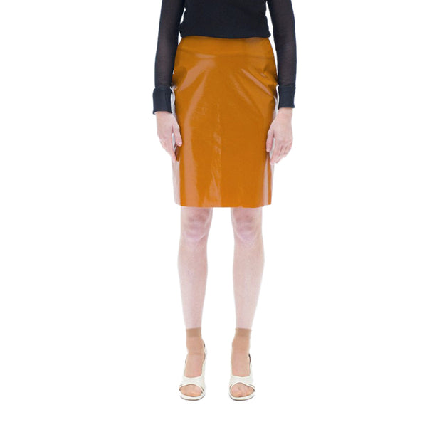 Light Brown Vinyl Skirt