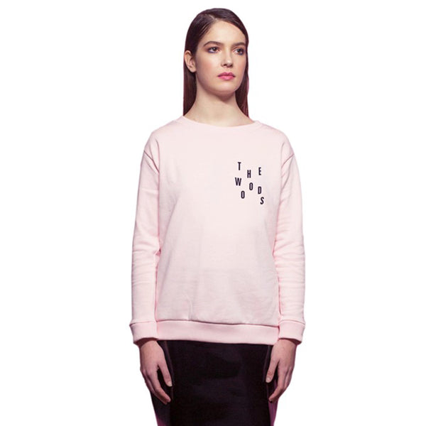 Pale Pink Cotton Sweatshirt Handmade In Paris