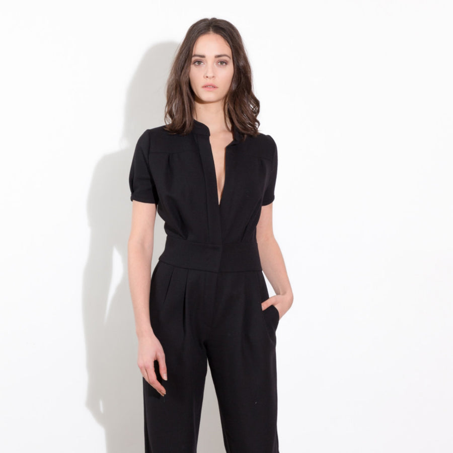 Black or red jumpsuit Philippe Perisse
