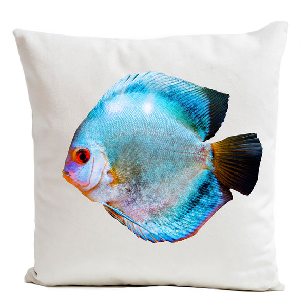 Artpilo Cushion Cover Miss Blue - White Velvet - Artpilo
