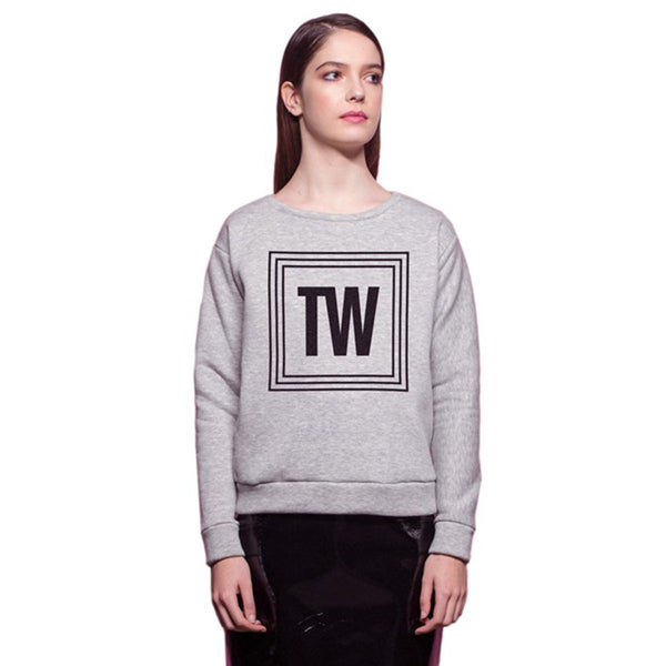 Sweatshirt In Grey Cotton TW The Woods Made In Paris