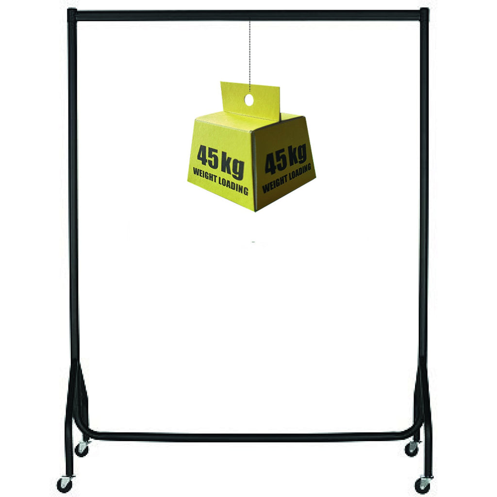Strong Clothes Rail (black)