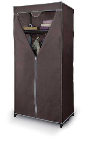 DomoPak Wardrobe with Shelf Plain Brown