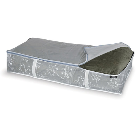 DomoPak Underbed cover for blankets White Leaf