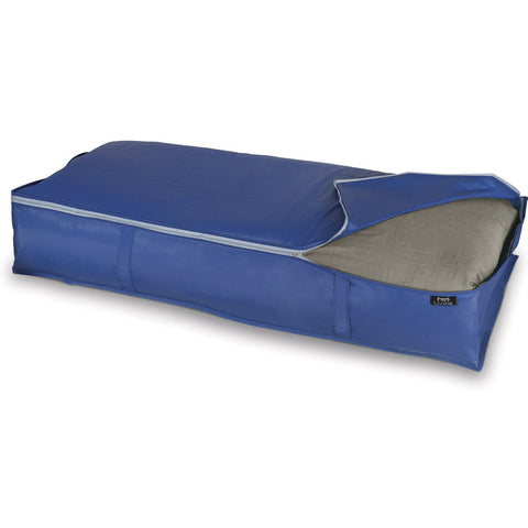 DomoPak Underbed cover for blankets Plain Blue
