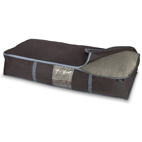 DomoPak Underbed cover for blankets Plain Brown