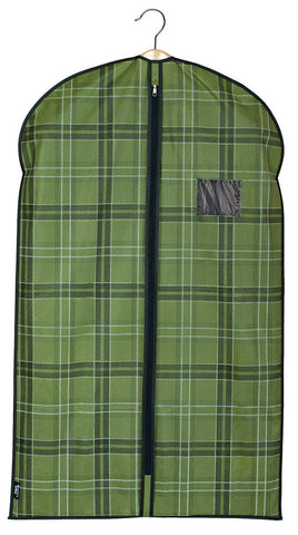 DomoPak Suit Cover Green Tartan