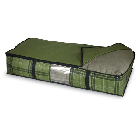 DomoPak Underbed cover for blankets Green Tartan