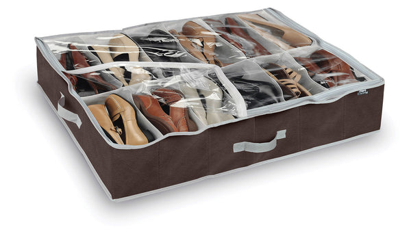 DomoPak Shoe Organiser Plain Brown