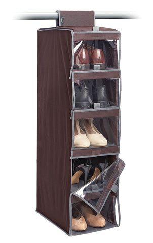 5 Compartments Hanging Shoe Organiser
