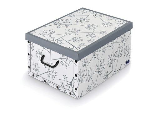 DomoPak Box with handles White Leaf