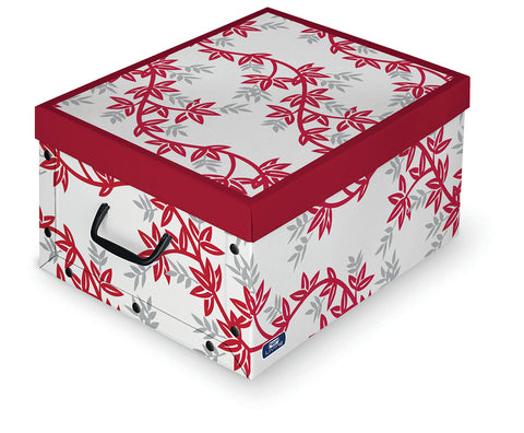 DomoPak Box with handles Red Leaf
