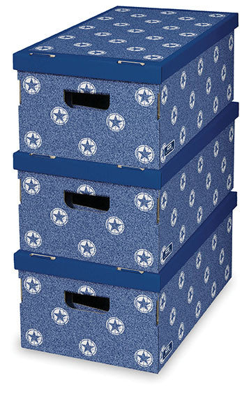 DomoPak 3pcs/set boxes Décor Stars