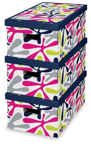 DomoPak 3pcs/set boxes Décor Colour Splash