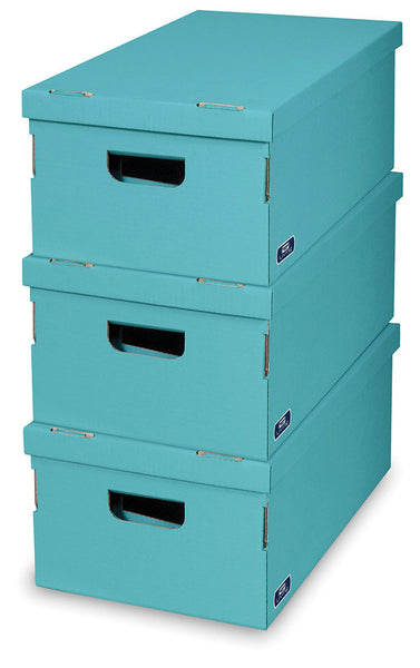 DomoPak 3pcs/set boxes Colour Aqua
