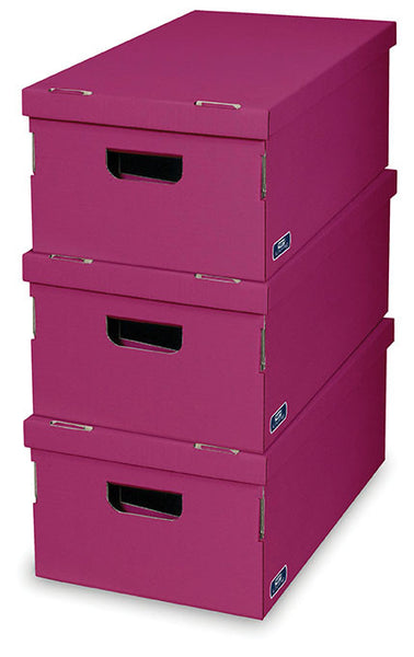 DomoPak 3pcs/set boxes Colour Fuchsia