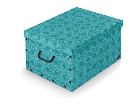 DomoPak Box with handles Colour Assortment Aqua