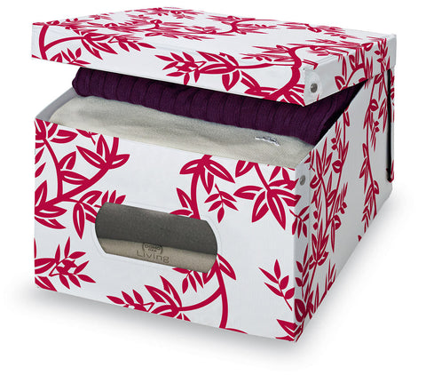 DomoPak Large Garment Box Red Leaf