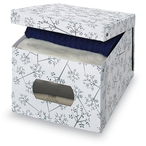 DomoPak Extra Large Garment Box White Leaf