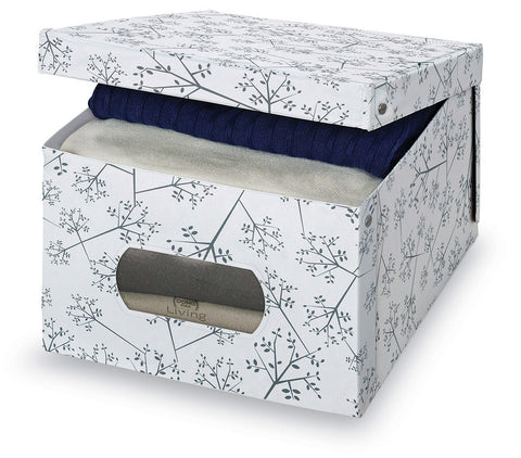 DomoPak Large Garment Box White Leaf