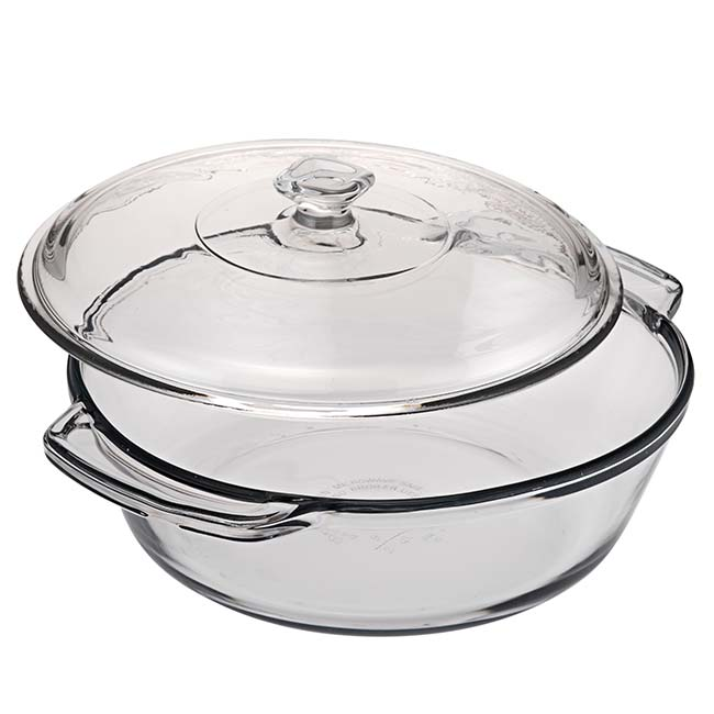 1.89 Litre Oven Basics Casserole Dish with Glass Lid
