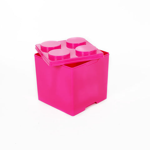 Storeasy Junior Building Block Stackable Storage Box 35Ltr Pink